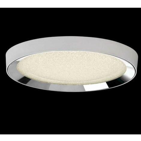 Plafon led dimable con mando a distancia MALE blanco-cromo-cristal
