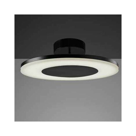 Plafón Led discóbolo color metal negro 36W