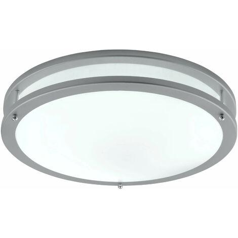 Plafón LED enrasado 36W, plateado / blanco 3000K 2000 lúmenes blanco pintado gris PC