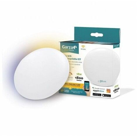 Plafon Led inteligente WIFI GARZA SMART HOME 401281 18W 30CM
