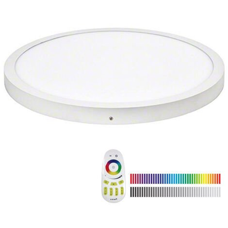 Plafón Led KRAMFOR BIG 40W, superficie, RGB+4000K, RGB + Blanco neutro, regulable