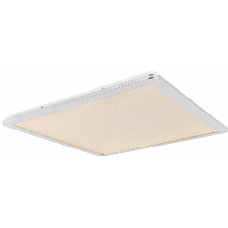 Plafón LED luminaria cristales CCT iluminación cromado 60x60 cm baño