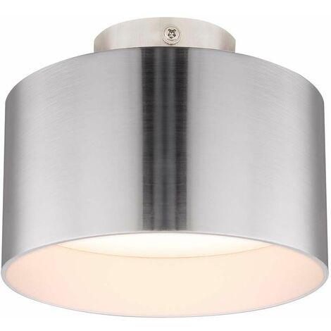 Plafón LED luz aluminio níquel mate 3 niveles de luz pasillo salón