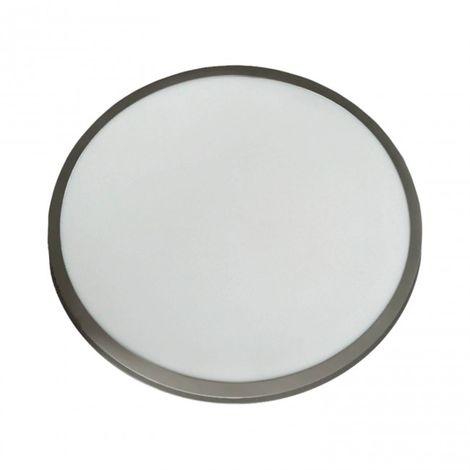 Plafón LED Luz regulable 60CM 48W circular plata