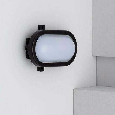 Plafón LED Oval Hublot 12W Black