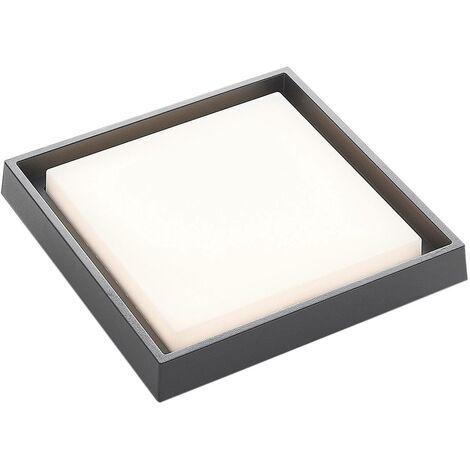 Plafón LED para exterior Birta, angular, 27 cm