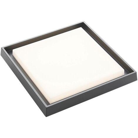 Plafón LED para exterior Birta, angular, 34 cm