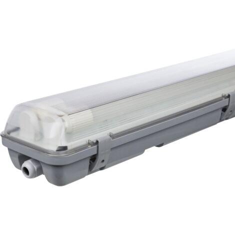 Plafón LED para habitaciones húmedas, IP65, 2x 2000 lm, 4000K, 150cm, blanco neutro