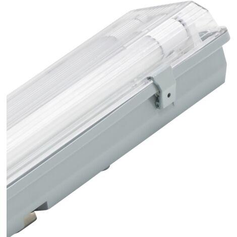 Plafón LED para habitaciones húmedas, IP65, 2x 900lm, 4000K, 60cm, blanco neutro