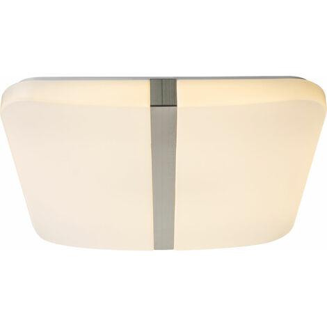 Plafón LED Plafón de techo blanco Plafón de salón Plafón comedor angular, 1x LED 30Watt 2000Lm Blanco cálido, LxH 43,5x5,5 cm