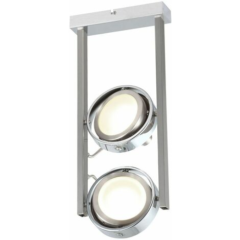 Plafón LED proyector de techo reflectante spotlight cromado ajustable Globo 56946-2D