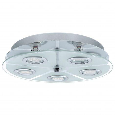 Plafón LED redondo EGLO Cabo 13552 - Plateado