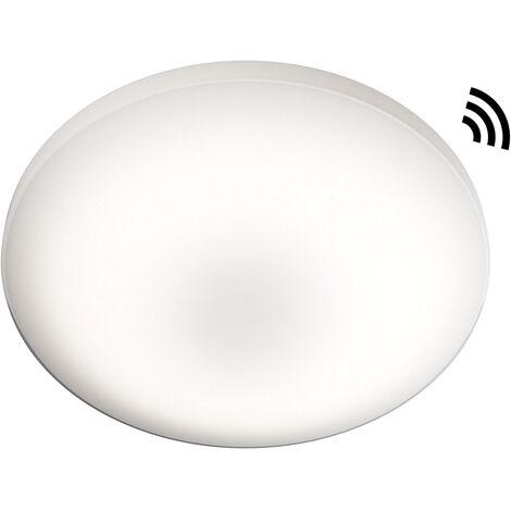 Plafón Led redondo Silara de exterior con sensor de presencia 22W 3000°K 88x400mm. (Osram 4058075048232)