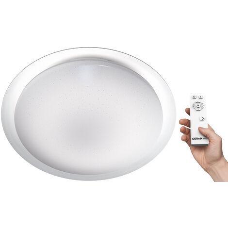 Plafón Led redondo Silara Sparkle regulable con mando a distancia 28W°K 91x500mm. (Osram 4058075042193)