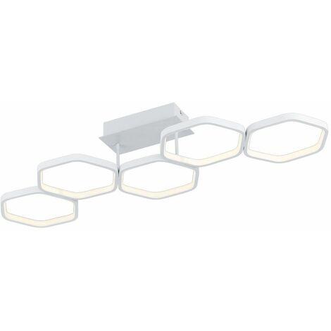 Plafón LED regulable blanco mate salón iluminación diseño lámpara Realidad luces R62055131