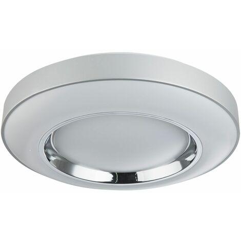 Plafón LED regulable sala de estar dormitorio luz diurna lámpara cromada CONTROL REMOTO Globo 48397-36