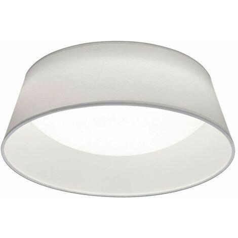 Plafón LED salón comedor lámpara textil pantalla iluminación blanco Realidad Leuchten R62871201