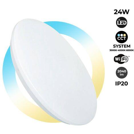 Plafón LED SMART de superficie 24W 2040lm CCT conexión WIFI IP20