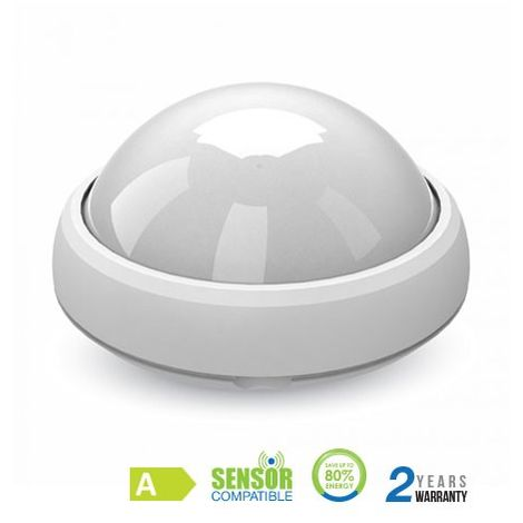 Plafón LED superficie circular 12W 120° IP54 Blanco