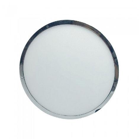 Plafón LED Superficie Circular Cromado 18W 120°