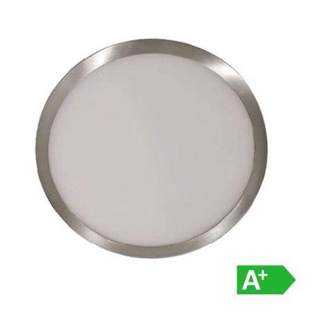 Plafón LED superficie circular Níquel Satinado 12W 120°
