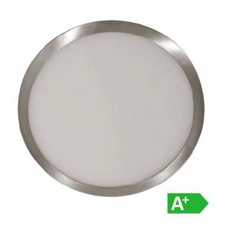 Plafón LED superficie circular Níquel Satinado 18W 120°