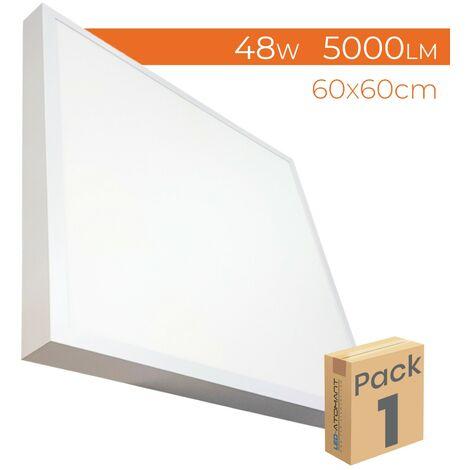 Plafón LED Superficie Cuadrado 48W 4400LM 600mm A++ | Blanco Neutro 4500K - Pack 5 Uds. - Blanco Neutro 4500K