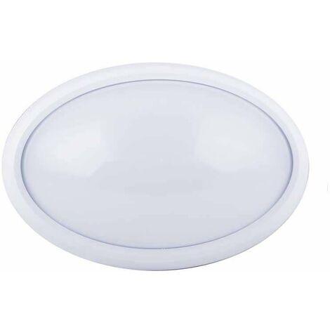 Plafón LED superficie oval 8W 120° IP54 Blanco