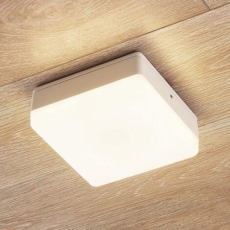 Plafón LED Thilo, IP54, blanco, 16cm, sensor HF