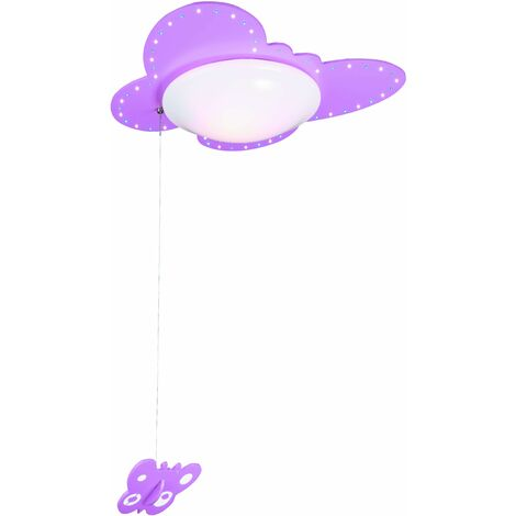 Plafón Mariposa Led Color: Morado