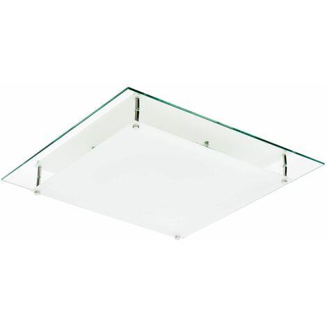 Plafón Mirror Cuadrado Color: Espejo/Opal
