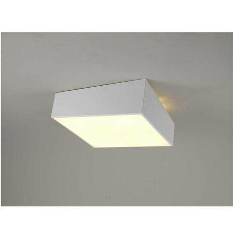 Plafon modelo MINI 5 luces en cuadrado blanco de Mantra