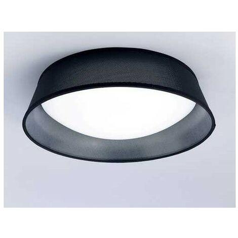 Plafon NORDICA tres luces con pantalla negra