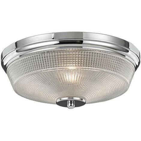 Plafón para baño de cromo 2 luces Concept