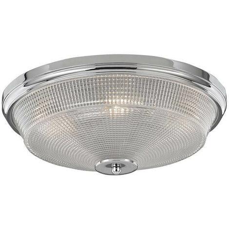 Plafón para baño de cromo con 3 luces Concept