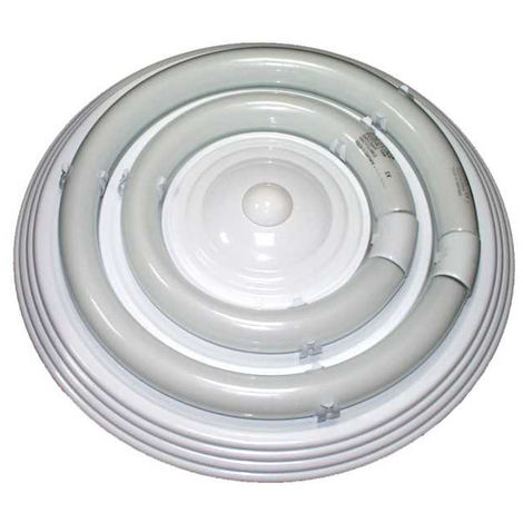 Plafón redondo chapa reactancia electrónica blanco 22W 18100-22