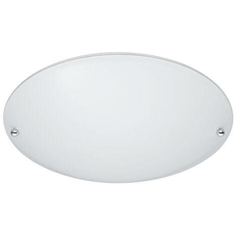 Plafón redondo cristal opal blanco 1xE27 (Trio Lighting 6196011-01)