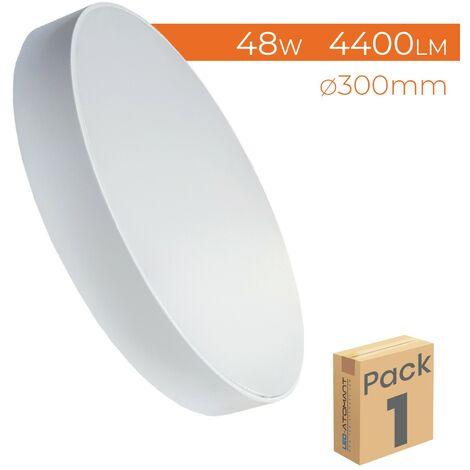Plafón Redondo LED Frameless Superficie 48W Extrafino 6500K 300mm | Blanco Frío 6500K - Pack 1 Ud. - Blanco Frío 6500K
