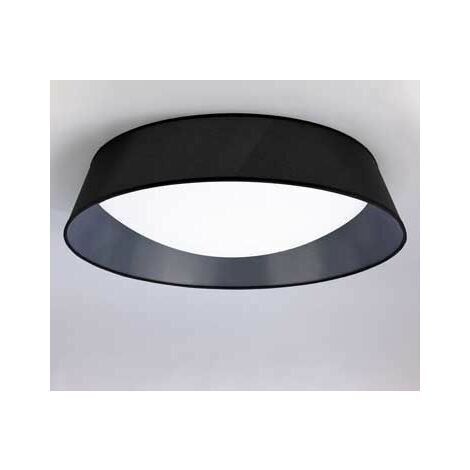 Plafón superficie 9 luces color negro redondo 90 CM