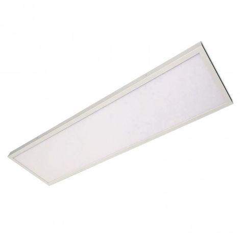 Plafón superficie rectangular 48W 30x120 blanco 4000K