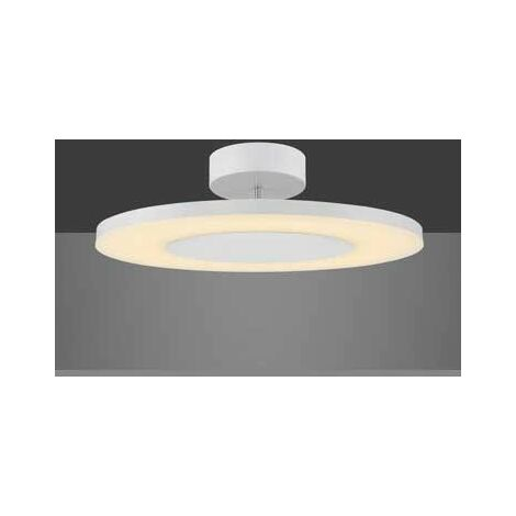 Plafon techo led blanco metalico DISCOBOLO 36 w
