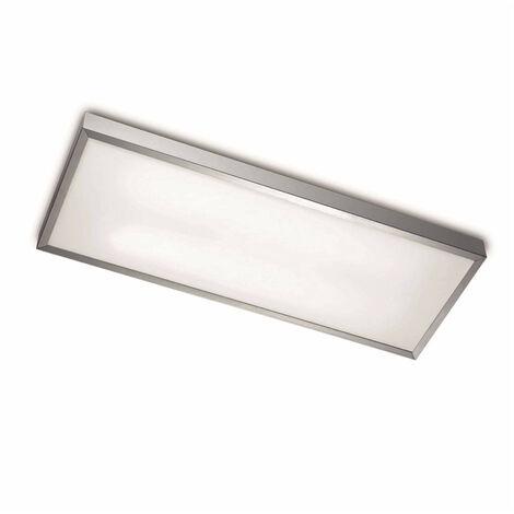 Plafón Toledo, aluminio y acrílico, 64 cm.