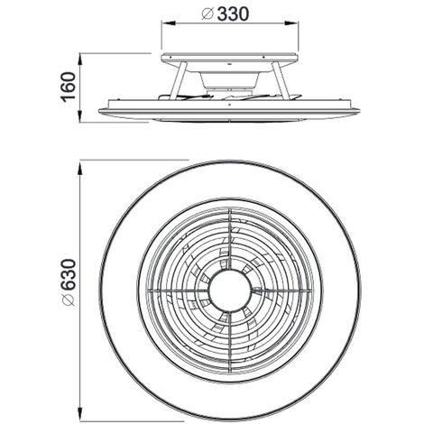 Plafón Ventilador LED Alisio (70W)