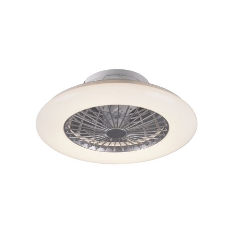 Plafon ventilador TRIFAN con tegnologia led regulable integrada color titan, AkunaDecor.