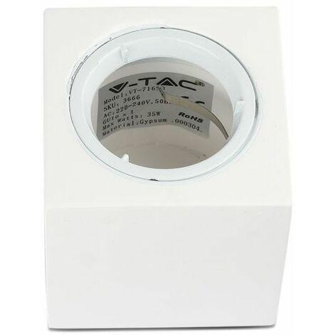 Plafond Carré Plâtre Montage en surface Avec anneau en Aluminium pour allocation Spot LED GU10 / GU5.3 VT-716SQ – SKU 3666