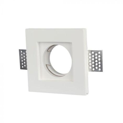 Plafond Carré Plâtre pour allocation Spot LED GU10 Φ100x100mm - 3651