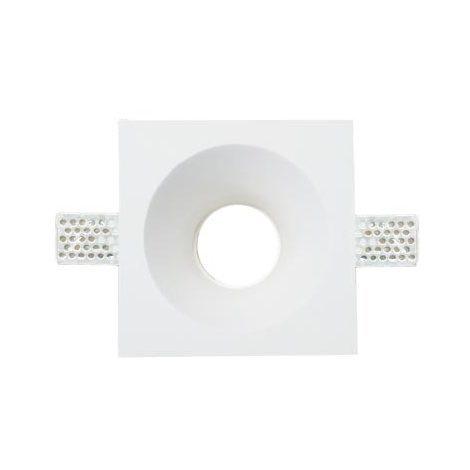 Plafond Carré Plâtre pour allocation Spot LED GU10 Φ121x121mm - 3653