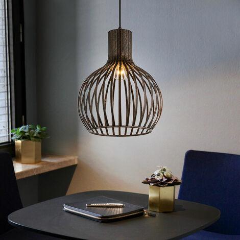 Plafond Pendule Lampe Suspendue Luminaire En Métal Cuivre Cage Design Salon Salle À Manger