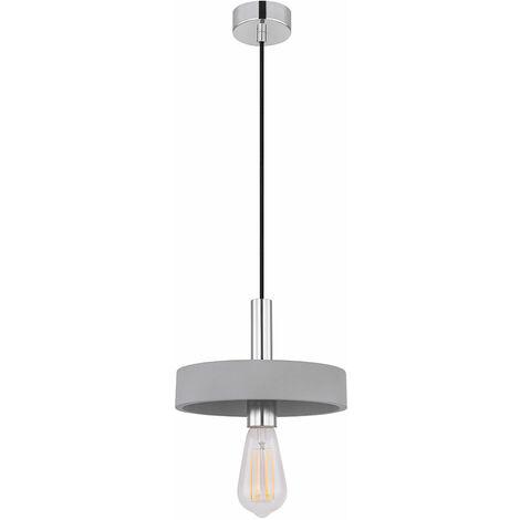 Maison de campagne Style de plafond lustre argent travail chambre verre pendule Lampe Couloir