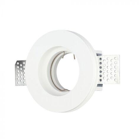 Plafond Rond Plâtre pour allocation Spot LED GU10 V-TAC Φ103mm - 3652